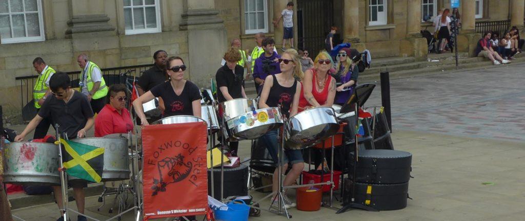 Huddersfield Carnival outside station 2015
