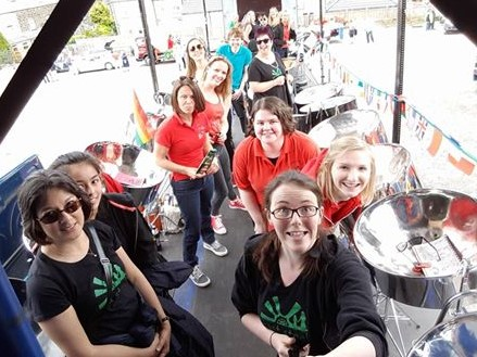 East Steel and Foxwood Steel at Otley Carnival 2015/6