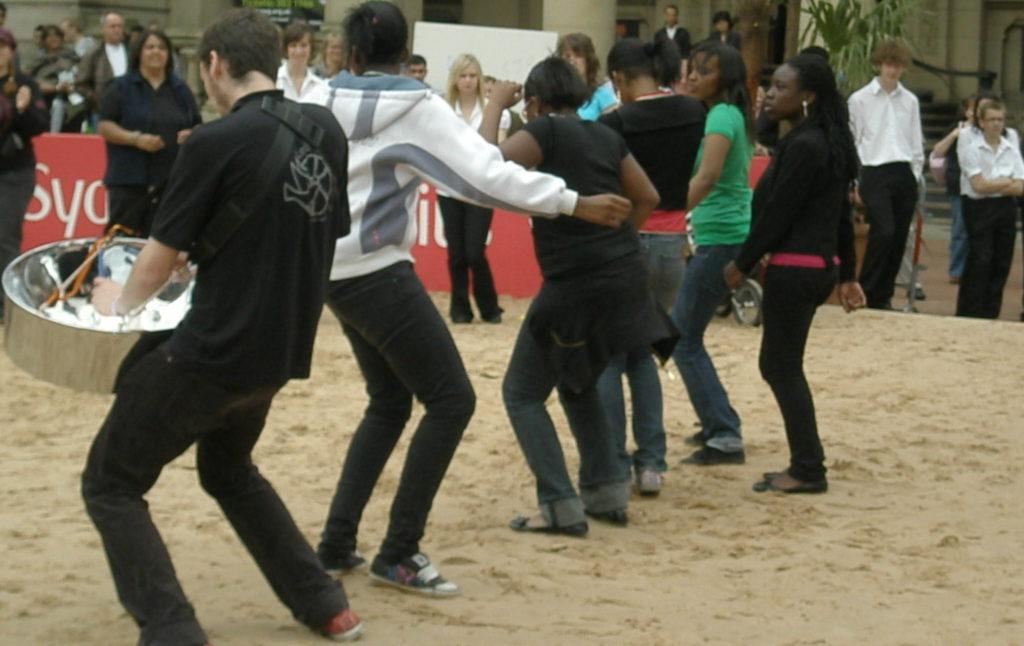 Morgan playing City girls dancing Music For Youth Chamberlain square Birmingham 2008