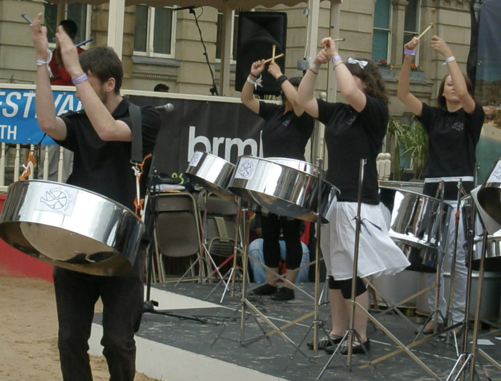 Some of Leeds Silver Doves clapping at Music For Youth Chamberlain Square Birmingham