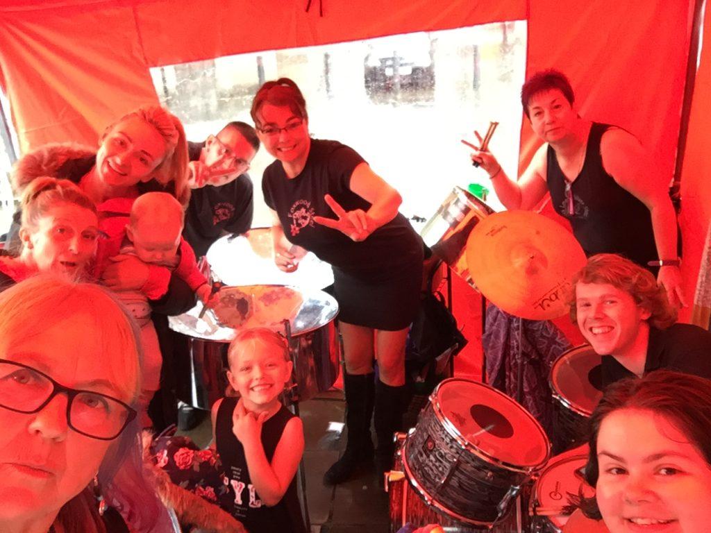 Foxwood Steel for Hope Not Hate Victoria Gardens Leeds September 2016 in da rain!