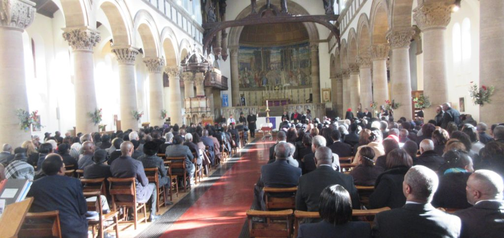 St Aidan's Church was packed to say goodbye
