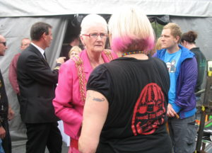Chatting with Lady Mayoress backstage Leeds Carnival 2009