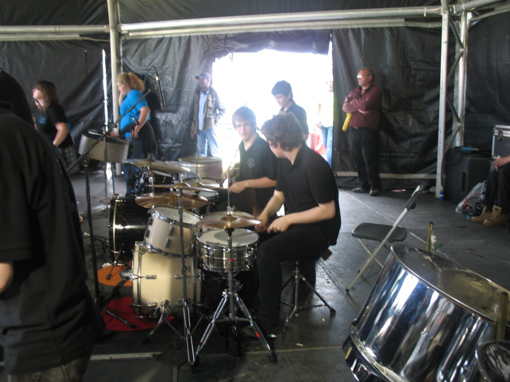 Joe and Joe drummers at Leeds Carnival mainstage 2009