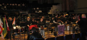 Sparrows rehearsing Leeds Town Hall 2010
