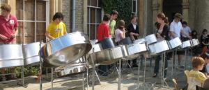Culford 2008 steelpan workshop at Suzuki cello summer school