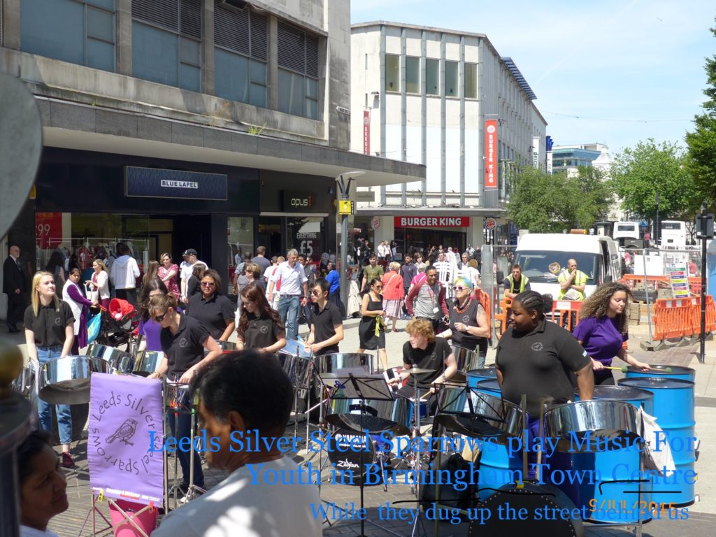 Sparrows 2015 in Birmingham for Music4Youth