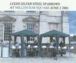 Sparrows 2001 in Millennium Square Leeds