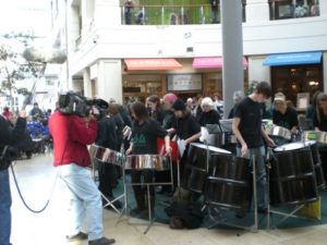 Sparrows 2007 and East Steel being filmed in the Light, Leeds