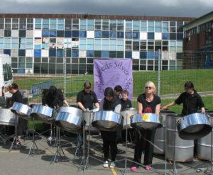 Sparrows play for closing of Wortley School 2009