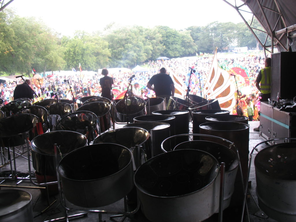 Leeds Pan Central waiting to play at Leeds Carnival 2010ish