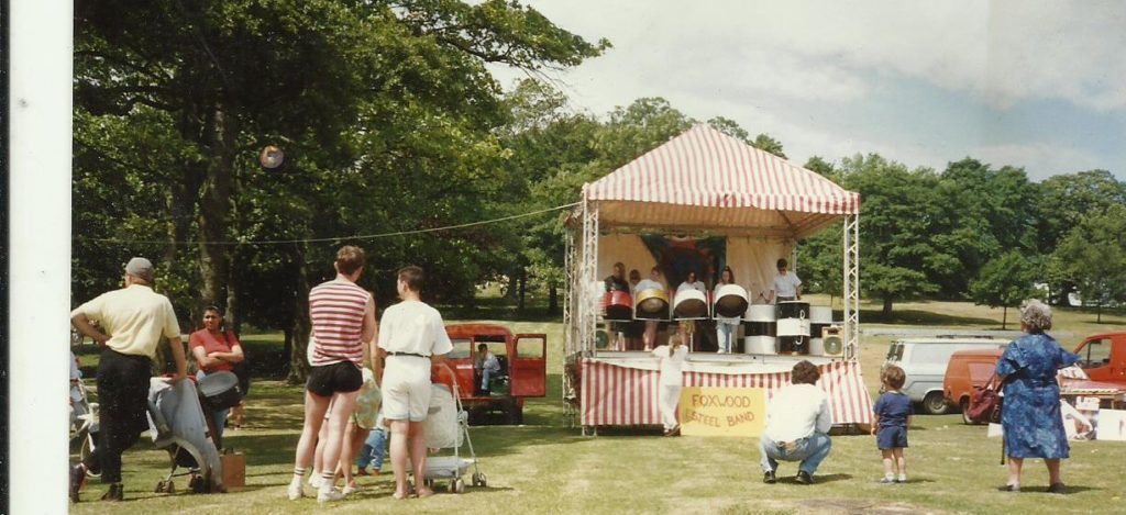Foxwood Steel Band in Roundhay Park in 1989