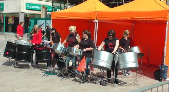 Foxwood Steel on the Moor in Sheffield Town Centre 2015