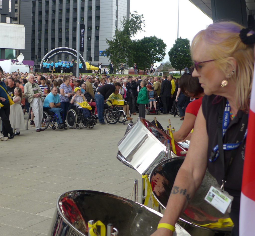 Leeds Pan Central outside Leeds Arena for le Grand Depart 2014