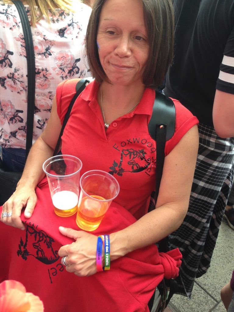 Vicky from Foxwood Steel at Leeds Pride 2015