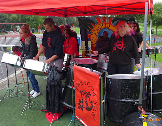 Foxwood Steel popping up at Savile Park Leeds Carnival 2014