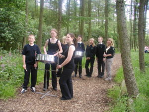 2005 Sparrows in woods by Donkey Sanctuary Eccup Leeds