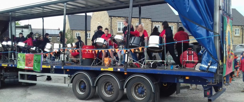 Foxwood Steel, East Steel and North Steel 2019 Otley Carnival