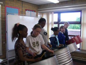 Steelpan workshop 2012 in Harehills